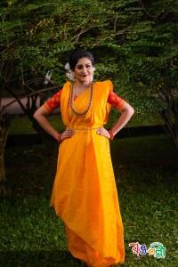 Halfsilk Yellow Box Jamdani Saree