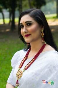 New Half Silk White Jamdani Saree