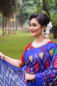 Blue Color Maslice Cotton Kotki Saree With Blouse Piece